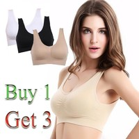 [FREE SHIPPING] Buy 1 get 3 Sexy Bra with Pads Seamless Push Up Bra