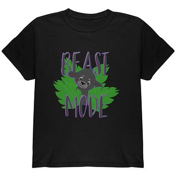 Beast Mode Cute Black Panther Cub Youth T Shirt