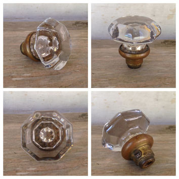 Vintage Crystal Glass Door Knob