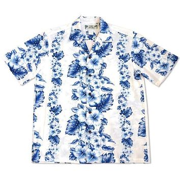hanalei white hawaiian cotton shirt