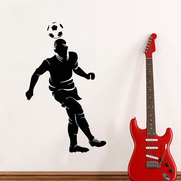 Football Wall Decal Boy Room Vinyl Stickers Soccer Player Decals Sport Art Home Bedroom Living Room Interior Design Boys Room Decor KI51