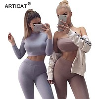 SIBYBO Winter Two Pieces Bodycon Jumpsuits For Women Overalls Long Sleeve Bodysuit Sexy Club Elegant Party Rompers And Jumpsuits