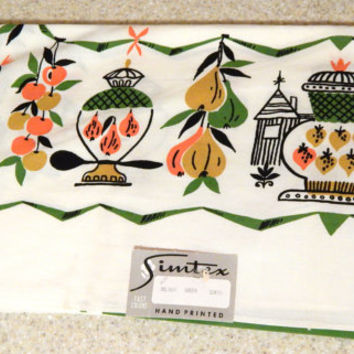 Vintage Simtex Tablecloth Delight Green 52x70 New