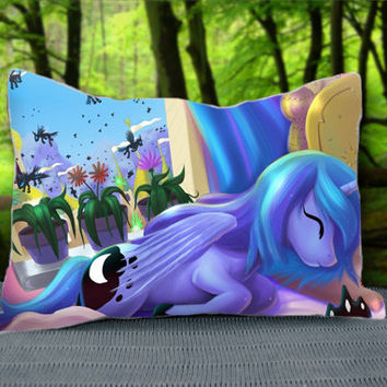 "Beautiful Sleeping Ponies Princess Luna Custom Pillow Case 30"" x 20"""