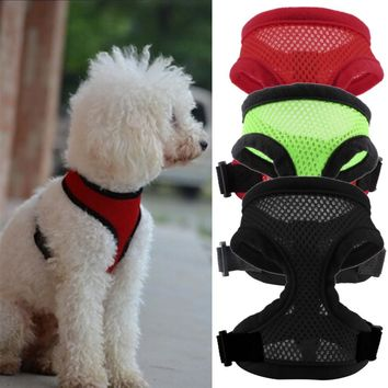 New Fashion 3 Colors Nylon Pet Mesh dog Harness Strap Vest Collar For Small Medium-sized Dog leads Puppy Comfort Harness
