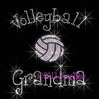 Volleyball Grandma  C  Iron on Rhinestone Transfer by BlingPalace