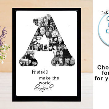 Custom Photo Collage Print, Letter Photo Collage, Personal Collage, Photo Collage, Personal Photo Collage, Customized Photo Letters
