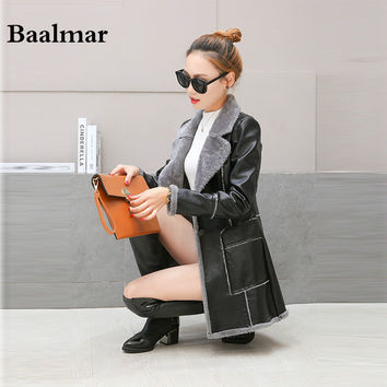 Leather Jacket Women 2016 Spring Real Fur Collar Leather Clothing Outerwear Jackets Coats Ladies Black Leather Coat Motorcycle
