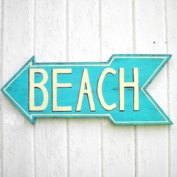 Wooden beach sign lake sign turquoise by Twigs2Whirligigs
