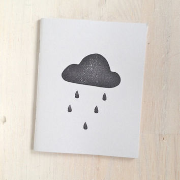 Medium Notebook: Rain Cloud, Light Blue, Portland, Stocking Stuffer, Wedding, Journal, Blank, Unlined, Unique, Gift, Notebook, YYY10/11x5
