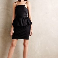 Pavan Peplum Dress by Tracy Reese Black