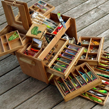 Tackle Box - Solid Oak with Recycled Skateboards Inlay