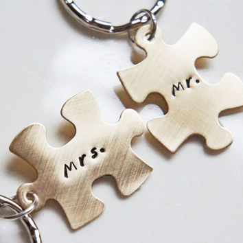 His and Hers Personalized Key Chains by RiverValleyJewelry