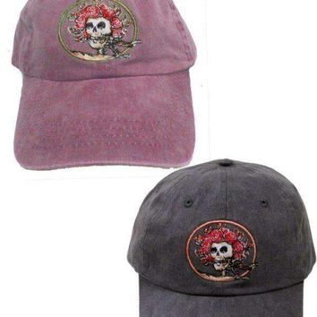 Grateful Dead Skull and Roses Embroidered Hats - 2 Pack