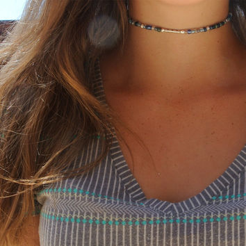 Floral Midnight Dream Choker