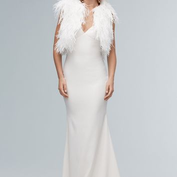 Willowby by Watters 56901 Merapi Feather Vest Wedding Separates