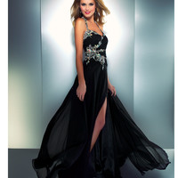 SALE! Mac Duggal 2013 Prom Dresses - Black Gown with Embellishments