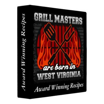 Grill Masters Are Born In W. Virginia Personalized Binder