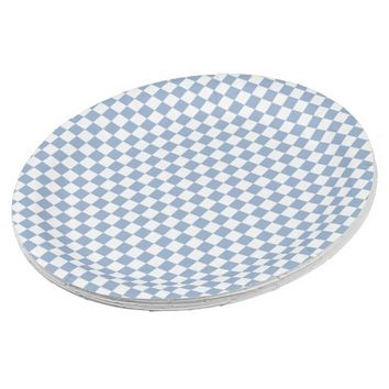 Sky Blue and White Checkered Paper Plates 9 Inch Paper Plate
