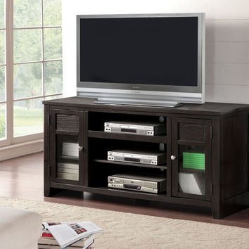 Acme 91352 Josselin espresso finish wood tall tv stand cabinet
