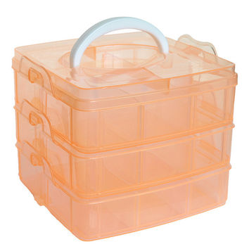 18 Slots Adjustable Transparent Jewelry Storage Box Ring Earring Drug Pill Beads Portable Plastic Organizer Case Travel Bins