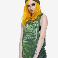 Harry Potter Slytherin Tie Dye Girls Muscle Top
