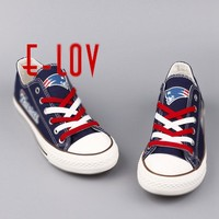 2016 New England Patriots USA Premium Team Football Canvas Shoes Fashion High Top Print Canvas Shoes For Boys Men Casual Shoes