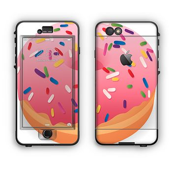 The Sprinkled 3d Donut Apple iPhone 6 LifeProof Nuud Case Skin Set