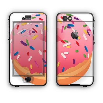 The Sprinkled 3d Donut Apple iPhone 6 Plus LifeProof Nuud Case Skin Set