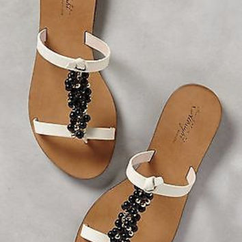 Anthropologie $188 Miss Albright Boysenberry Slides Sz 7 NIB