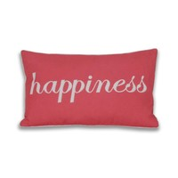 Happiness Script Pillow - Coral Spice