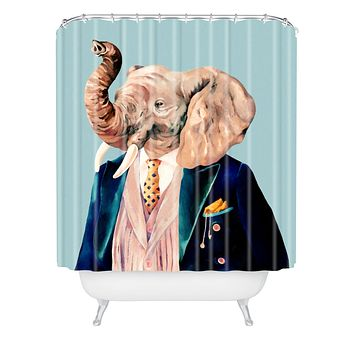 Animal Crew Mr Elephant Shower Curtain
