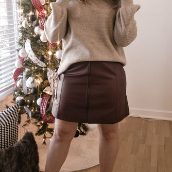 Tatum Faux Leather Mini Skirt