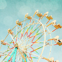 ferris wheel,whimsical nursery wall art,fairground ride by Zila Longenecker