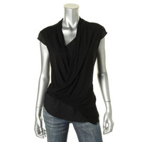 Vince Camuto Womens Panel Sleeveless Blouse