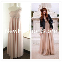 One Shoulder Floor Length Prom Dress, Sexy Dress, Homcoming Dress