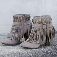 Women's Madge Boot in Grey by Daytrip.