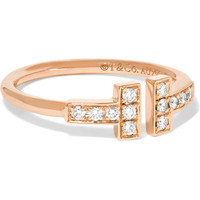Tiffany & Co. - T Wire 18-karat rose gold diamond ring