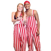 Game Bibs Overalls (Red/White) *