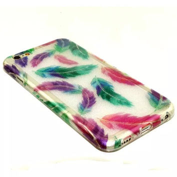Feather Twinkle Silicagel creative case Cover for iPhone & Samsung Galaxy