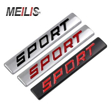Car 3D sports chrome metal shields badge stickers decals car tattoo car styling car stickers auto parts free shipping