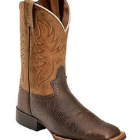 Justin Stampede Cattleman Cowboy Boots - Square Toe - Sheplers
