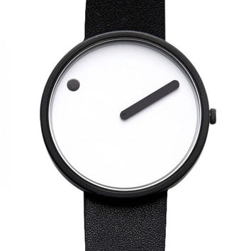 Rosendahl Picto Analog Watch 40mm Black Leather