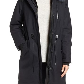 Mackage Parka with Genuine Fur Lining & Trim | Nordstrom