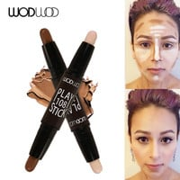Wodwod Brand Face Cream Paly 108 Stick Contour Duo Palette Bronzer Highlighter Stick Concealer Stick Shadow Repair Stick