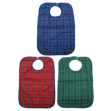 New High Quality Waterproof Large Adult Mealtime Bib Clothes Clothing Protector Dining Cook Apron Ajustable