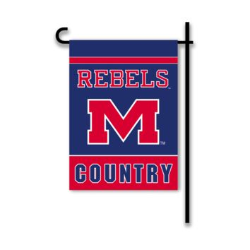 NCAA Mississippi Rebels 2-Sided Country Garden Flag