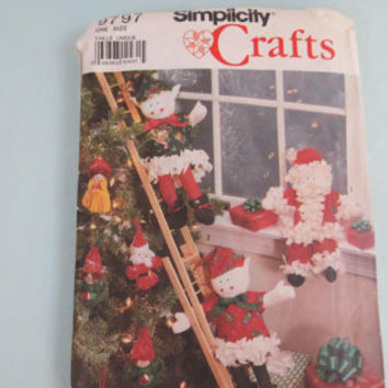 Simplicity crafts christmas craft pattern 9797 made 1990 sewing pattern for christmas ideas