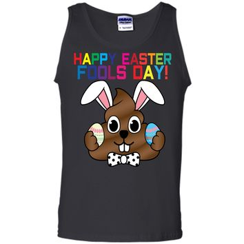 Happy Easter Fools Day Poop Emoji T-Shirt for Easter Gift Tank Top
