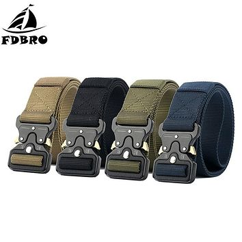 Military Tactical Metal Buckle Nylon Belt